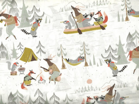 Camp Wander woodland animals Dear Stella fabric