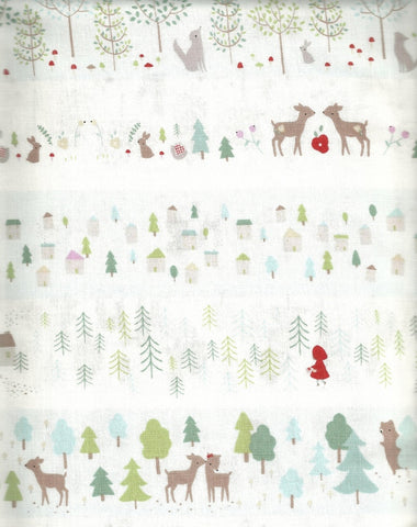 Little Red Riding Hood stripe Dear Stella fabric