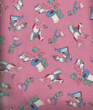 Storybook Ranch pink cowboy kids 30s reproduction Windham fabric