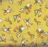 torybook Ranch yellow cowboy kids 30s reproduction Windham fabric