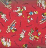 Storybook Ranch red cowboy kids 30s reproduction Windham fabric
