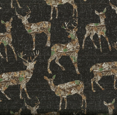 Real Tree Daybreak Edge deer in woods allover  Print Concepts wildlife fabric