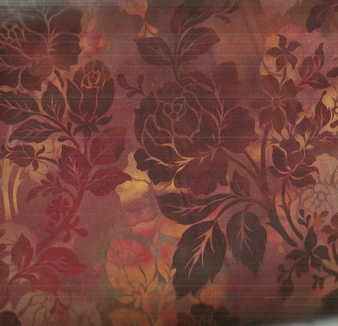 Diaphanous Jason Yenter rust night bloom floral ITB fabric