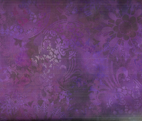 Diaphanous Jason Yenter  purple flowers ITB fabric