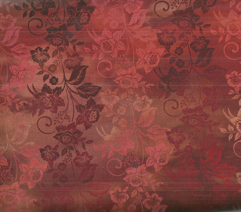 Diaphanous Jason Yenter rust enchanted vines floral ITB fabric