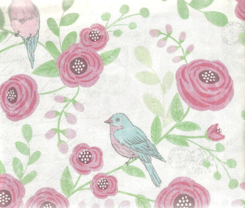 Not Too Shabby floral birds Rivers Bend fabric