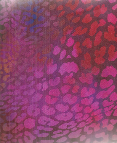 Safari jungle leopard red pink bright In the Beginning fabric