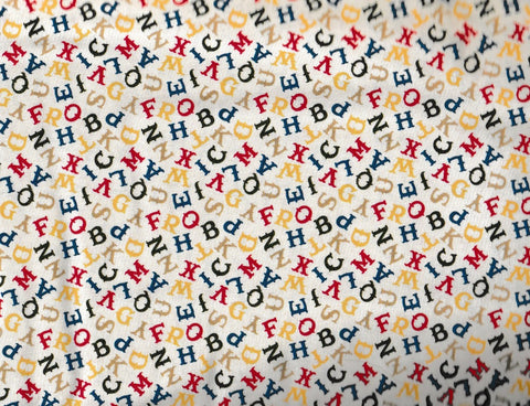 Round Up western children ABC alphabet Rivers Bend fabric