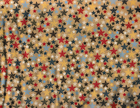 Round Up western children gold stars retro Rivers Bend fabric
