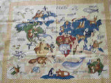 Animals Around World  flannel panel