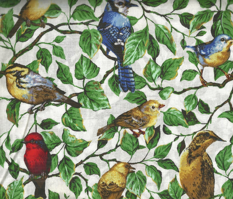 Backyard Birds Allover bluebirds fabric