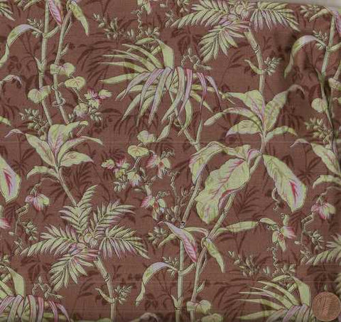 Urban Couture Basicgrey floral brown green Moda fabric