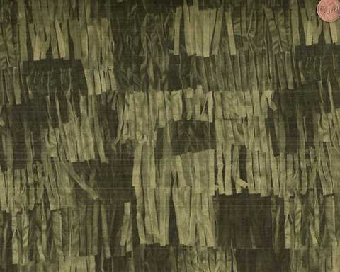 Buffalo Bill 30054-5 fringe fabric with a green background