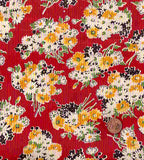 Building Blocks red floral American Jane Moda fabric