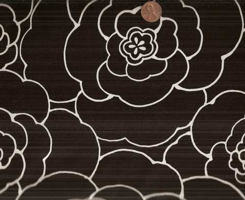 Camelia Alexander Henry black white floral fabric