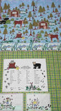 Camp kids panel flannel Riverwoods fabric