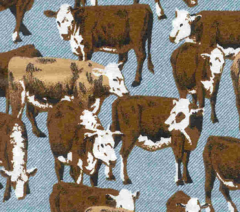 Cattle Drive cattle cows fabric