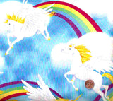 Cloud Prancers unicorns rainbows Michael Miller fabric