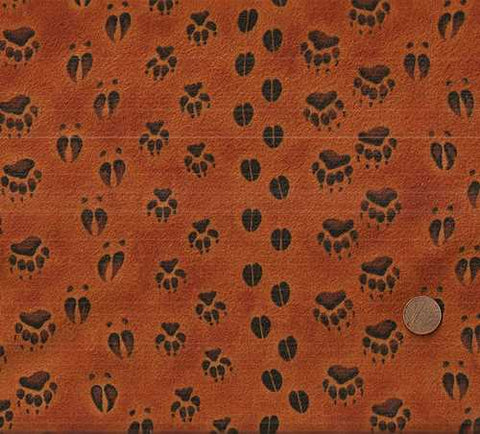 Copper Ridge Bear tracks flannel wildlife Kaufman fabric