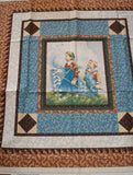 Cover Story Panel T959 retro boys flying kite RJR fabric
