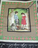 Cover Story Puppy Love boy girl RJR panel fabric
