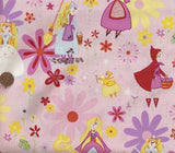 Fairytale Princess pink childrens Aleander Henry fabric