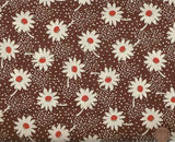 Feedsack VI 309119 black white floral 1930s reproduction Windham fabric