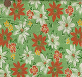 Feedsack V green flowers floral Windham fabric