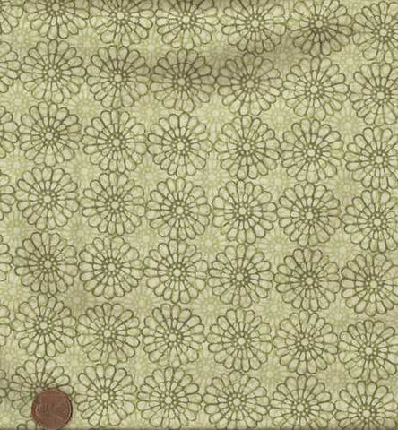 Floragraphix green floral Jason Yenter fabric