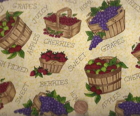 Homegrown fruit apples Kitchen fabric