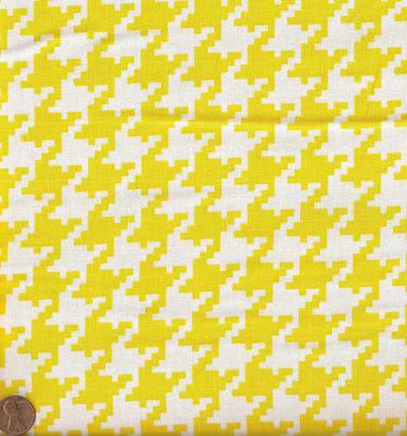 Houndstooth yellow and white from Michael Miller