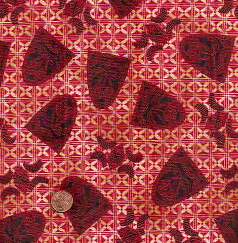Kenta R213 African masks red Timeless Treasures fabric