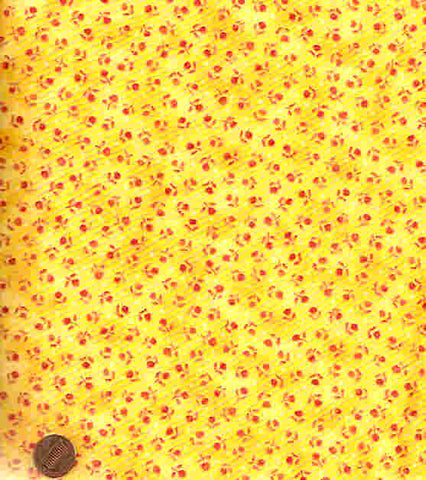 Little Bear Cottontail Y459 yellow floral RJR fabric