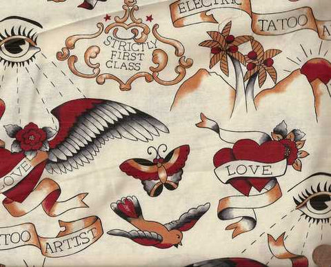 Love Tattoo Michael Miller fabric