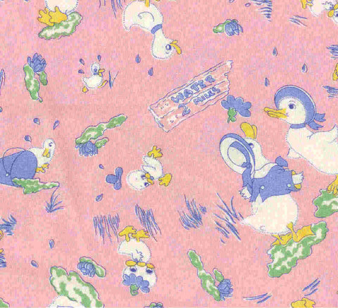 Lucys Feather Bed pink childrens Moda fabric