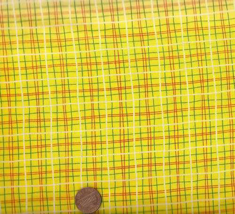 Lunch Box yellow Michael Miller plaid fabric