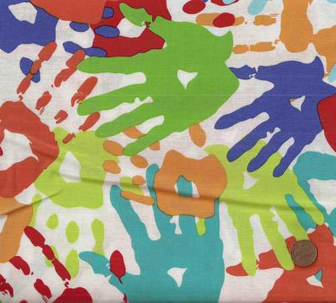 Messy Hands kids colorful Michael Miller fabric