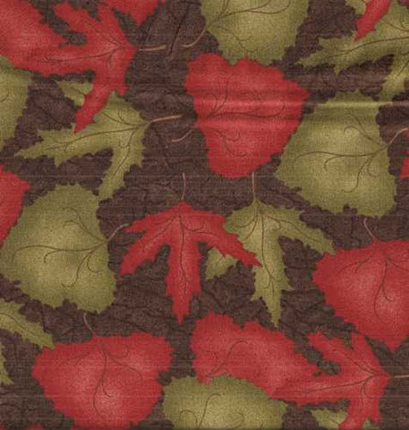 Migration  6332 19 Holly Taylor brown leaves Moda fabric