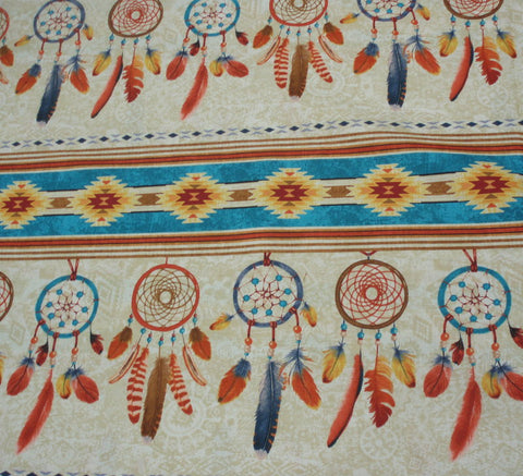 Dreamcatcher stripe southwestern Timeless Treasures fabric