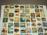 Unbridled western blocks horses cowboys buffalo boots Quilting Treasures fabric