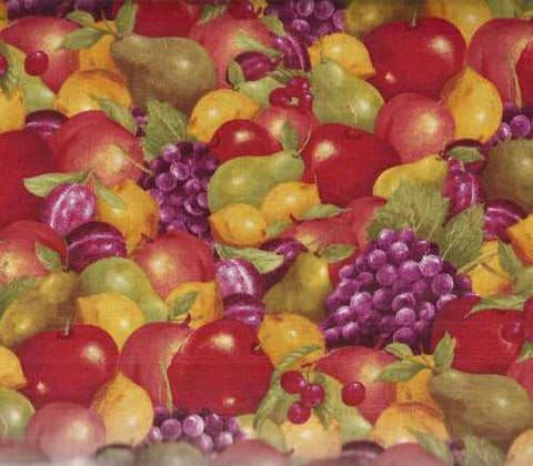Picked Fresh 255978 fruit grapes apples Wilmington fabric