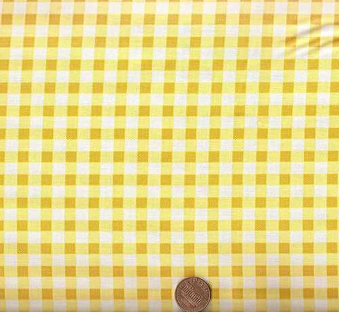 Picnic Yellow check Michael Miller fabric