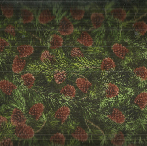 Pine Cones evergreen branches Timeless Treasures flannel fabric