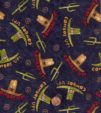 Rodeo B333 navy cowboy hats fabric