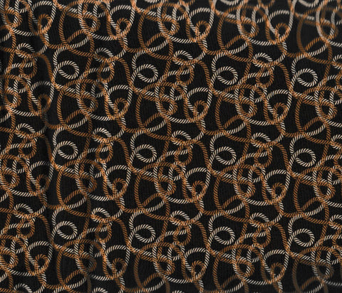 Copy of Round Up western cowboy ropes brown lasso retro Rivers Bend fabric