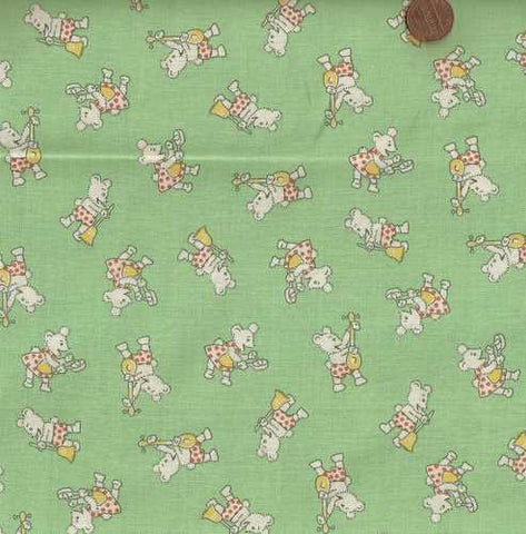 Storybook VII 30610 green 1930s Windham reproduction fabric