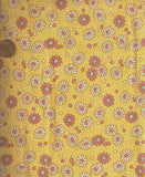 Storybook VII yellow pink daisies 1930s reproduction Windham fabric