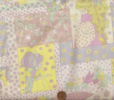 Storybook Patch pastel girls children's Alexander Henry fabric