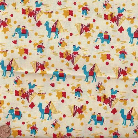 Sunbonnet Sue 29919-1 elephants camels 1930s reproduction Windham fabric