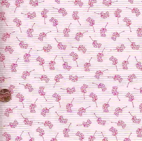 Tiny Treasures pink stripe toys RJR fabric